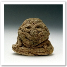 smiling stone people