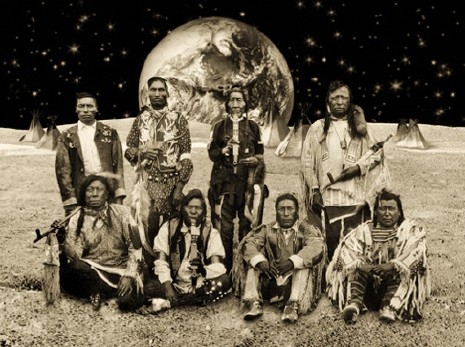 Native American Reservation on the Moon